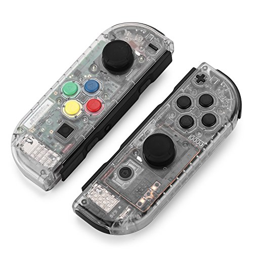 Replacement Housing Shell Case Set for Nintendo Switch Right Left Joy-Con Controller and Switch Console DIY replacement kit for your Switch without Electronics (Joycon-Matte Clear)