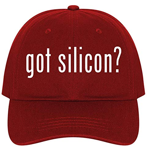 got Silicon? - A Nice Comfortable Adjustable Dad Hat Cap, Red