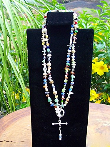 Multicolor stone set, Lariat Necklace, bracelet and Earrings (Lariat Set Earrings)