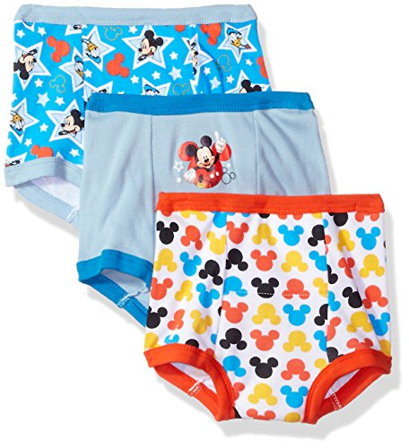 (Disney Toddler Boys' Mickey Mouse 3pk Training Pant, Mickey Multi, 4T)