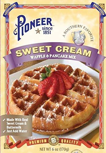 Pioneer Sweet Cream Waffle Mix, 6 oz (Pack of -
