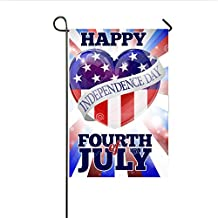 "Yard Decorations Garden Flag Outdoor Home Decor - Happy Fourth Of July Independence, House Flags USA Holiday Decorations Double Sided 12"" x 18"""