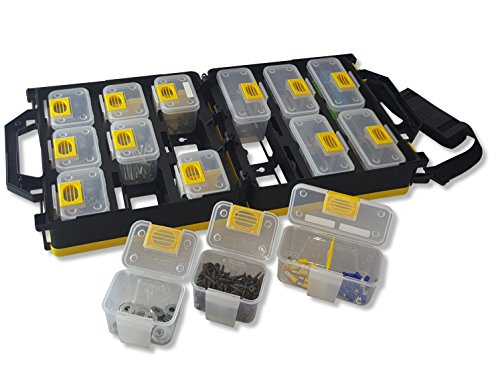 - WorkVanEquipment Mobile Hardware Case Tackle Box with Removable Compartment Organizer and Shoulder Strap - US Patented