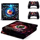 DICOOL BIOHAZARD REVELATIONS 2 Vinyl Decal Protective Cover Sticker for Sony PS4 Console and 2 Dualshock Controllers Skin Set