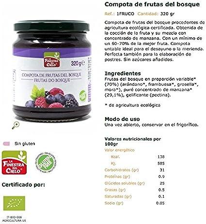 La Finestra Sul Cielo Compota de Frutas del Bosque, 320g (Bio ...
