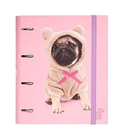 Erik Studio Pets Dogs - Carpeta de 4 anillas (tapa dura, 26 x 32 ...