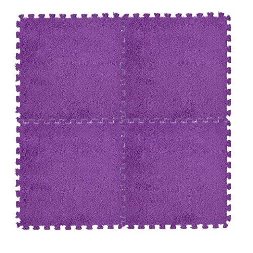 Floor Standing Bidet Set (Mikey Store Kids Carpet Foam Puzzle Mat, 30×30cm, Make 7 colors Floor (Purple))
