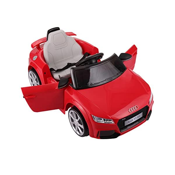 bbfcf0a15a4f JAXPETY Audi TT 12V Electric Kids Ride On Car Licensed MP3 LED Lights RC Remote  Control ...