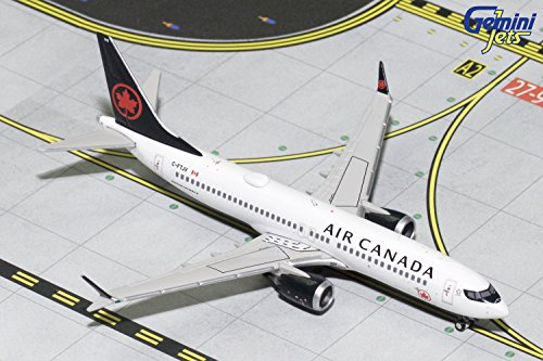 GeminiJets Air Canada B737 Max 8 C-Ftjv 1:400 Scale Diecast Model Airplane 8 C 1, (Canada Aircraft Replica)