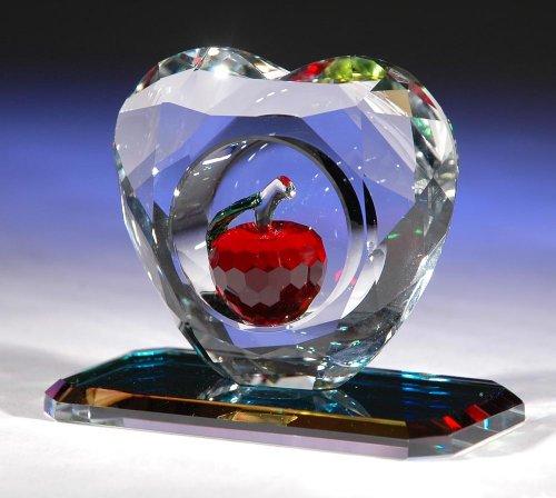 Swarovski Crystal Apple - CRYSTAL WORLD