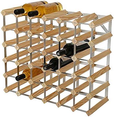 Orificios para botellas de 6 x 5. El almacenamiento de 36 botellas incluye el uso de la fila superio