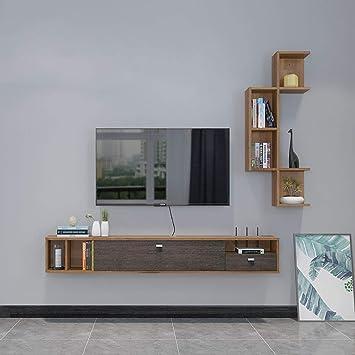 Los estantes flotantes Madera flotante gabinete de la TV ...