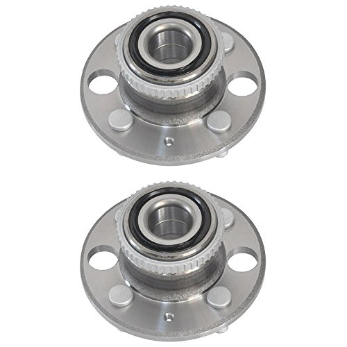 SCITOO Rear Wheel Bearing Hub 513105 4 Bolts with ABS Sensor fits Acura EL, Acura Integra, Acura Integra GS-R, Acura Integra, Acura Integra, Acura Integra, Honda Civic, Honda Civic del Sol Pack of 2