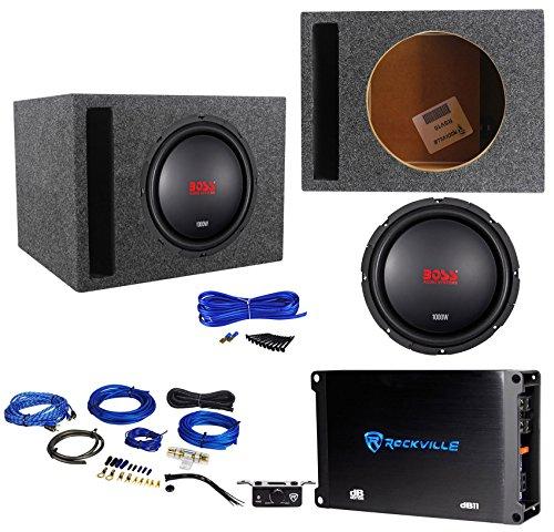 "Boss Audio CXX104DVC 10"" 1000 Watt Subwoofer+Vented Box+Mono Amplifier+Amp Kit"