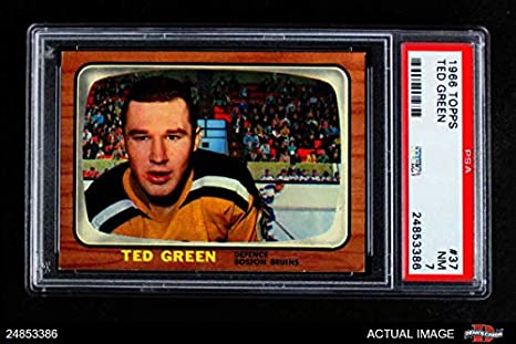 best sneakers 0d4b7 97063 Amazon.com: 1966 Topps # 37 Ted Green Boston Bruins (Hockey ...