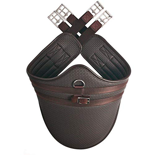 HyCOMFORT Waffle Stud Girth (44in) (Brown)