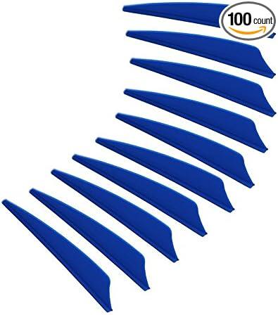 PG1ARCHERY 3 Inch Archery Vanes Plastic Feather Fletching Shield Cut for DIY Arrows 36 Pack