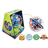 Maze Globe 3D Puzzle Maze Ball | 80 Challenging Obstacles | Educational 3D Labyrinth For Kids & Adults | Enhance Hand & Eye Coordination | Improve Kids Motor Skills, Patience and Focus