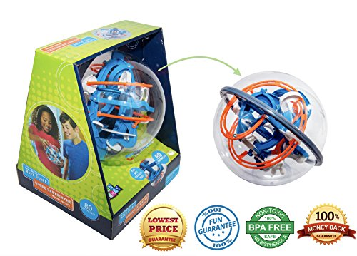 Maze Globe 3D Puzzle Maze Ball   80 Challenging Obstacles   Educational 3D Labyrinth For Kids   Adults   Enhance Hand   Eye Coordination   Improve Focus And Patience