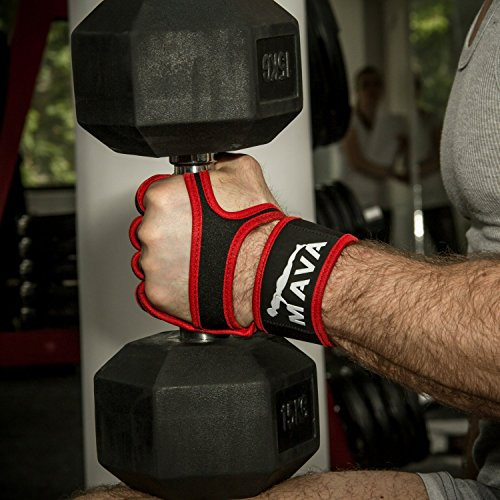 Mava Fitness Gloves: Mava Silicone Padded Gym Workout Gloves