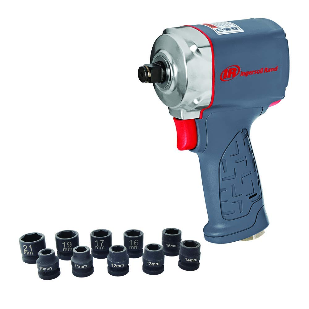 Ingersoll Rand 1/2'' Ultra-Compact Impact Wrench Kit with Sockets