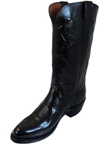 4d85612e425 Amazon.com   Lucchese Men's 1883 N1652.R4 Boot Black/Buffalo (8.5 D ...