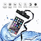 VITCHELO IPX8 Waterproof Cell Phone Case for iPhone 6, 7 & 7 Plus. Watertight Container Touch ID, Armband & Lanyard. Dry Pouch Best for Pool, Outdoor Activities & Watersports
