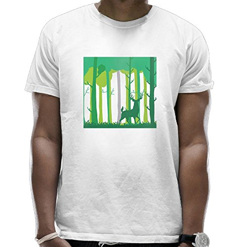 Nature and Shit Men Combed Cotton T-Shirts Performance Round Neck Short-Sleeve Shirts