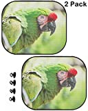 MSD Car Sun Shade Protector Side Window Block Damaging UV Rays Sunlight Heat for All Vehicles, 2 Pack Image ID: 39347598 Mexican Military Macaw Ara militaris Mexicana Portrait Animal backgr