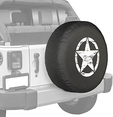 Top Quality Blank RV Jeep Spare Tire Cover OEM Dealer Grade 33 In American Unlimited Gear Black Denim