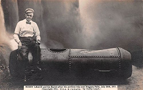 Bobby Leach and his Barrel aft...