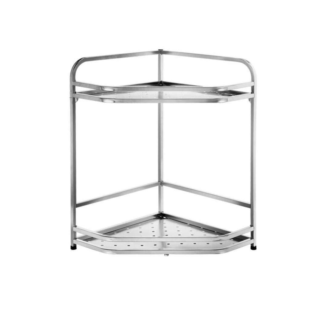 304 Stainless Steel Kitchen Racks Corner Seasoning Tripod Storage Supplies Oil Salt Sauce Vinegar Kitchen Shelf