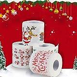 Papel de Navidad, diseño navideño, papel higiénico de impresión seguro para decorar el hogar, sala de estar, baño, fiesta, 1#, free size