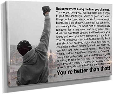 Rocky Balboa Quote Canvas Print