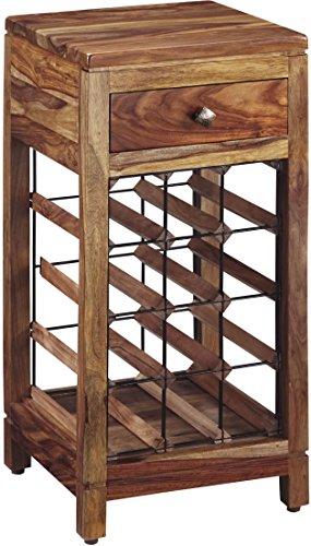 Ashley Furniture Signature Design - Abbonto Wine Cabinet - Casual - Warm Brown Finish -