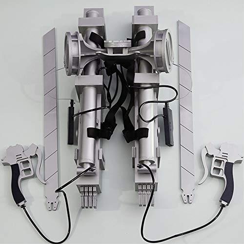 Memory meteor Attack on Titan Cosplay Prop Straps Belt Sword Eren Yeager Three-Dimensional Maneuvering Gear Full Set +Short Khaki Jacket, Real Life Ratio (Attack On Titan Odm Gear Real Life)