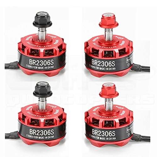 Price comparison product image 4pcs RacerStar BR2306S 2306-2305 2700kV 2-4S Brushless Motor Set (2)CW (2)CCW for FPV Racing Drones