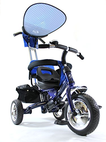 4in1 Lexx Trike Classic Smart Kid's Tricycle 3 Wheel Bike Removable Handle & Canopy NEW BLUE