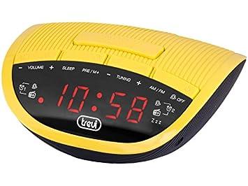 Trevi RC 825 D Reloj Digital Negro, Amarillo - Radio (Reloj, Digital,