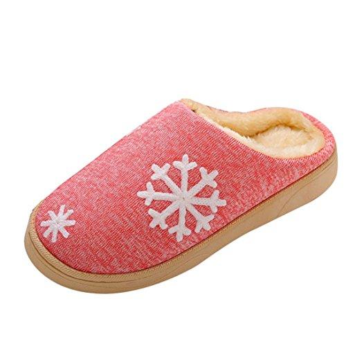 Gillberry Vrouwen Mannen Kerst Zachte Slippers Indoor Schoenen Namaakbont Warme Slippers Roze