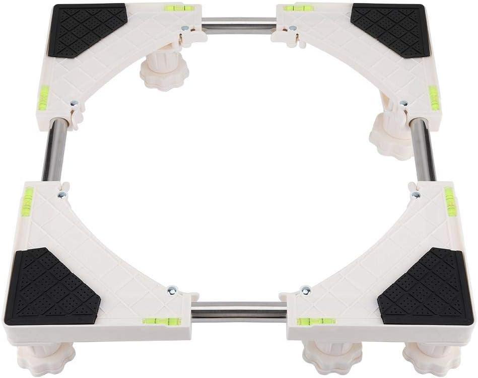 Aramox Base Ajustable Multifuncional, Soporte de Soporte de la Base de la máquina Soporte del refrigerador para secadoras, cocinas, frigoríficos, congeladores (4 pies / 8 pies)(8 Feet)