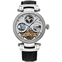 Stuhrling Original Men's 353A.33152 Magistrate Analog Automatic Self Wind Black Leather Watch