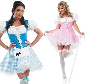 0dba0b3616d Sexy Ladies Little Bo Peep or Dorothy Fairy Tale Fancy Dress Halloween  Costume Outfit 8-26 Plus Size (UK 24-26, Bo Peep)