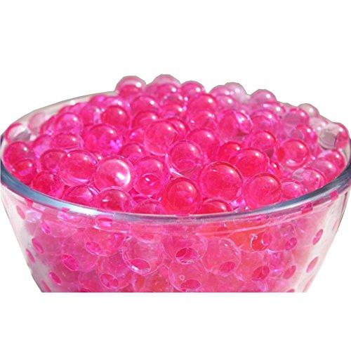 TRENTON 10Bag Crystal Soil Water Beads Mud Magic Balls Flower Plants Vase Fillers Decor (Purplish Red)