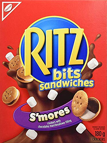 Ritz Bits Sandwiches Smores 180 Gram/6.34 ounce 6-Pack {Imported from Canada}