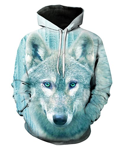 Wolf Suit (YOUR LOVE Pastel Wolf Harajuku Streetwear Fashion Hoodies 3D Printed Unisex Pullovers Sweatshirt T-shirts, XXXL)