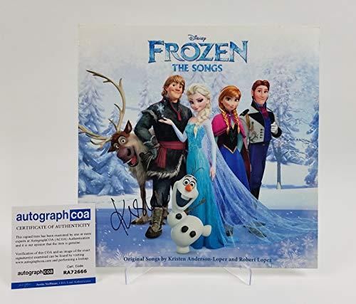 Frozen Kristen Bell Autographed Signed Record LP Album Soundtrack ACOA