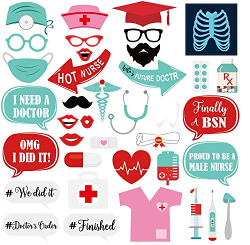 (Graduation Photo Booth Props for Nurse and Doctor 2019 Graduation Decoration Graduation Party Favors Graduation Party Supplies – 38)