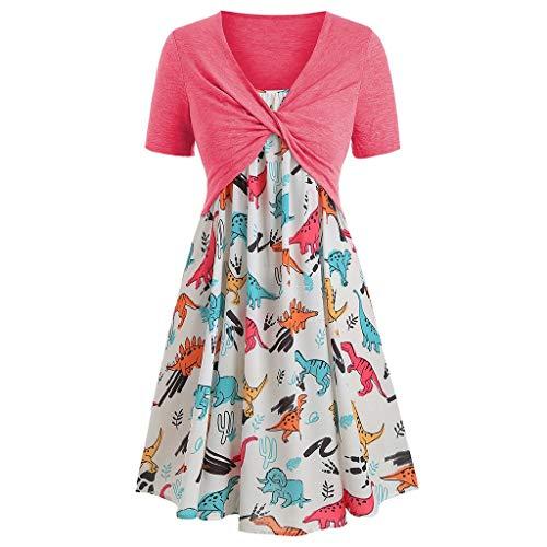 Haalife◕‿Women's Summer Dress Casual Short Sleeve Bandage Top Sunflower Print Maxi Dress Boho Spaghetti Strap Dress