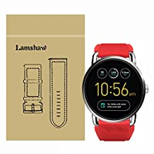 Lamshaw Soft Silicone Replacement Sport Strap for Fossil Q Wander Gen 1/Gen 2